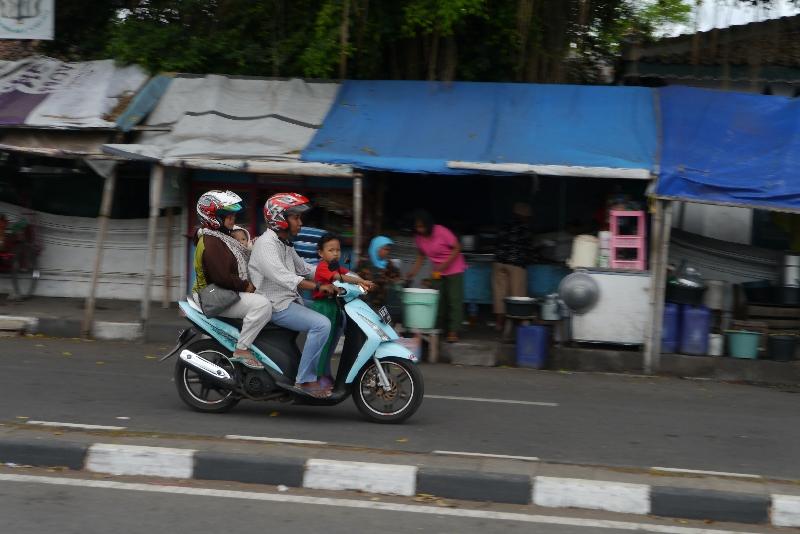 Typisches Stadtbild in Yogyakarta