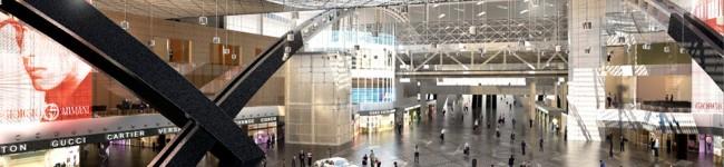 Neuer Empfangsbereich im Katar Airport.  ©www.hok.com