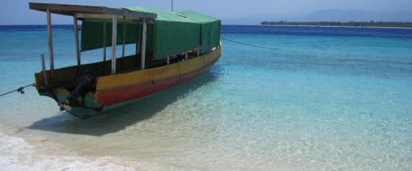 Die Fähre bringt einem von Lombok direkt auf die Gili Insel.