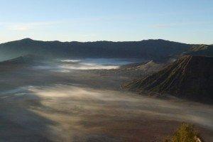 """Die """"See"""" vom Mount Bromo  nach dem Sonnenaufgang"""