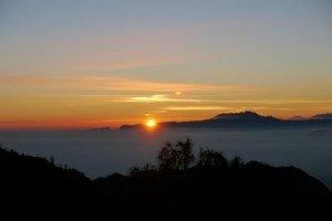 Sonnenaufgang am Mount Bromo um 05.20 Uhr