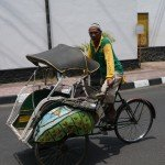 Radtaxi in Yogyakarta - günstig, lustig zu empfehlen!