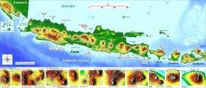 Die Insel Java mit den vielen Vulcanen gehört zu den 4 größten Inseln in Indonesien.